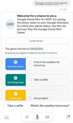 google home mini game on assistant