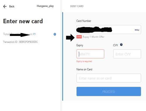 hungama-rupay--card-payment