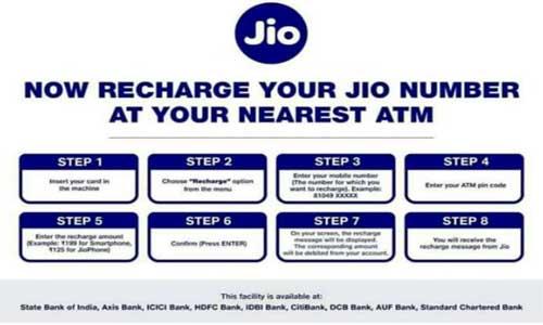 jio recharge debit card atm