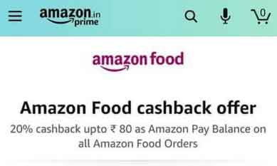 amazon food cashback offer