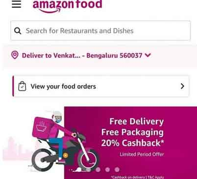 amazon food free delivery and packing