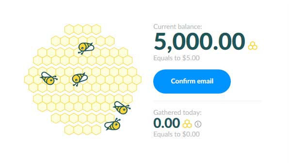 confirm-email to start earn money online on honeygain
