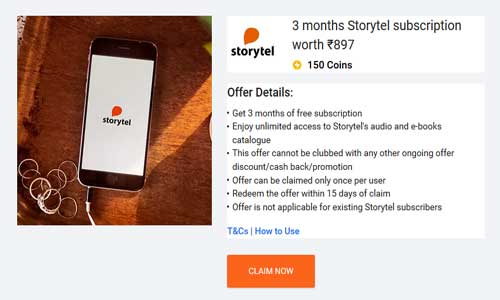 storytel subscription on flipkart