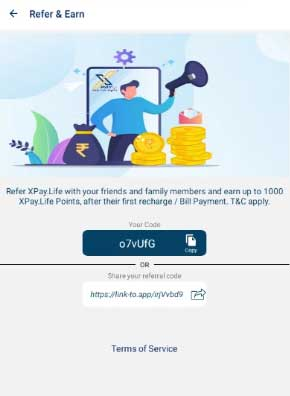 xpay life app referral code