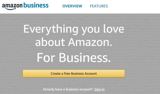 create-amazon-business account sign up button
