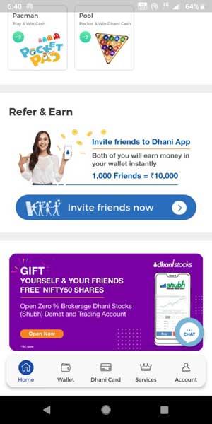 dhani app refer earn banner