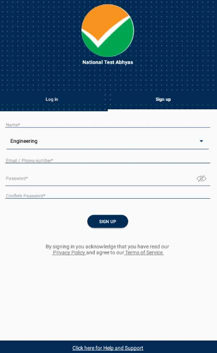 sign up nta app