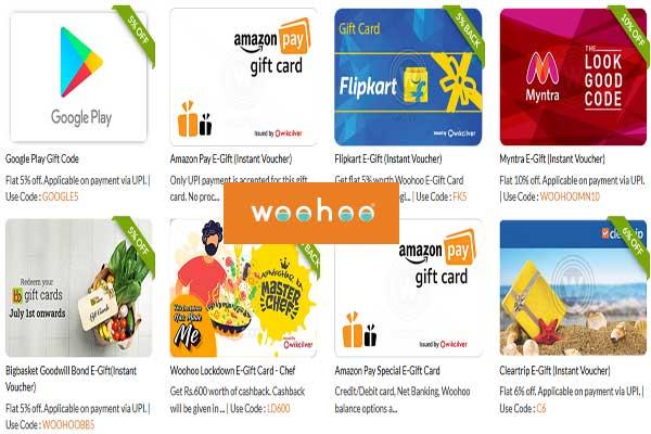 woohoo gift card offer