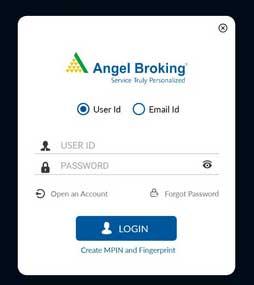 login on angel broking app