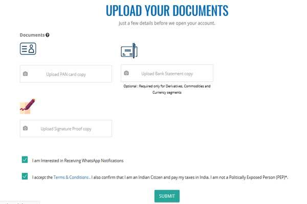upload documents on angel broking