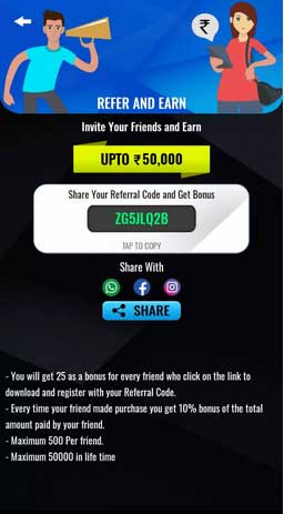 playspl refer and earn offer
