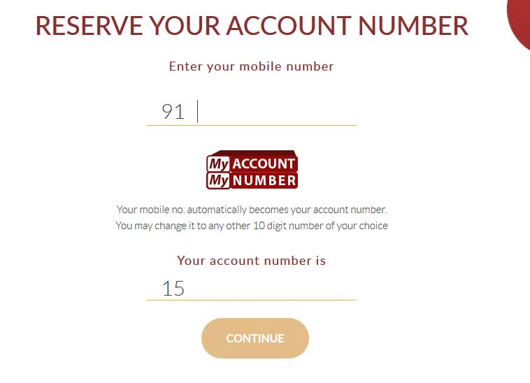 reserve account number