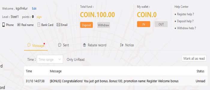 sign up welcome bonus
