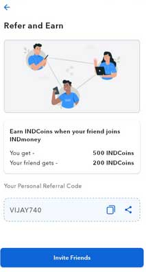 referral code indmoney app