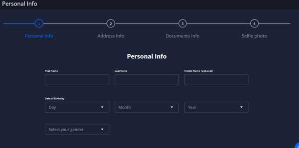 enter personal information