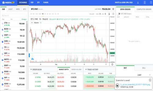 wazirx crypto trade platform